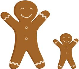 or smaller than a gingerbread man give each student a gingerbread man ...