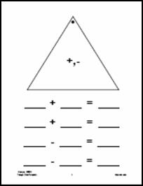 fact family triangle worksheets